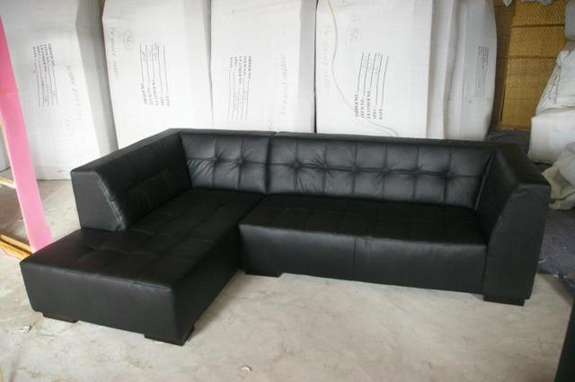 Modern style sectional sofa top Genuine leather sofa living room furniture  8047