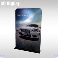 60 Exhibitoin Booth High Quality Advertising Portable Straight Tension Fabric Display Banner Stand With Single Side