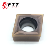 Carbide insert  CCMT09T304 VP15TF H High quality CNC Lathe cutter tool Internal Turning Tools sclcr1212h09 holder lathe tools cutter with 10pcs ccmt09t304 blades insert cnc 100mm high quality