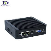 Kingdel Quad Core Celeron J1900 Windows7 безвентиляторный Мини-ПК с ТВ Box WIFI 2.0 ГГц HDMI VGA неттоп компьютер HTPC Настольный ПК