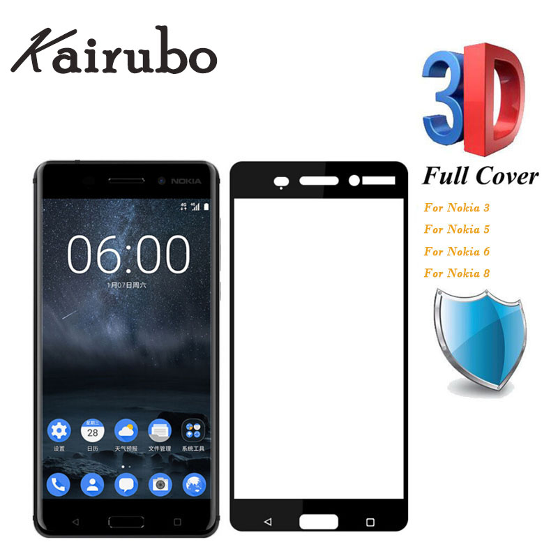 Screen Protector For Nokia 6 2018 Tempered Glass Nokia 3 5 6 8 7 plus X5 X6 3 1 5 1 8 Sic Screen Protector Full Cover 20pcs in Phone Screen Protectors from Cellphones Telecommunications