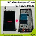 5.0 pulgadas de pantalla lcd full + pantalla táctil de cristal digitalizador + conjunto del bastidor para huawei p8 lite ale-l04 l21 tl00 l23 cl00 l02