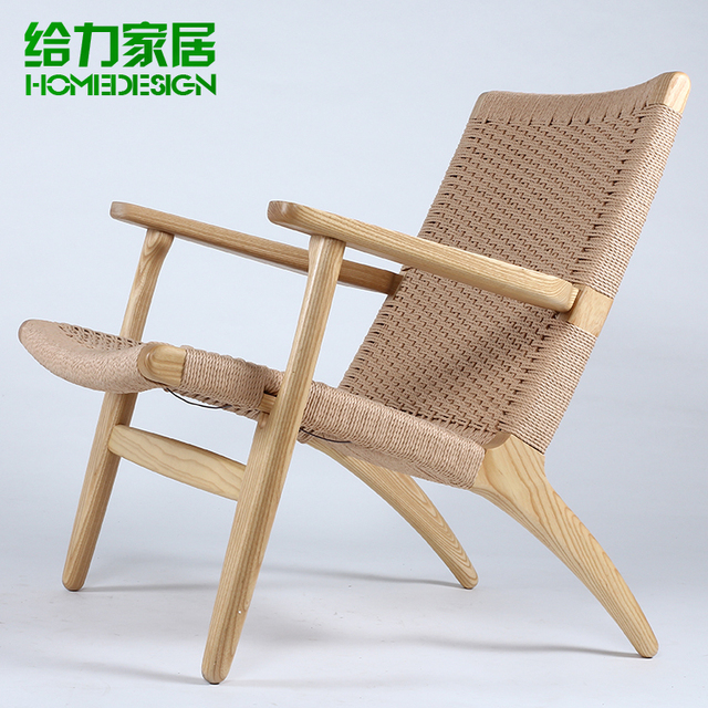 Well-known IKEA sofa chairs minimalist upscale casual fashion woven wood  EE16