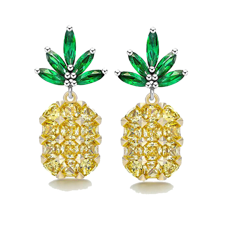 Manxiuni 2018 Silver Color Dubai Jewelry Decorations for Women Pineapple Jewelry Wedding Trinet and Necklaces Brinco in Pendant Necklaces from Jewelry Accessories