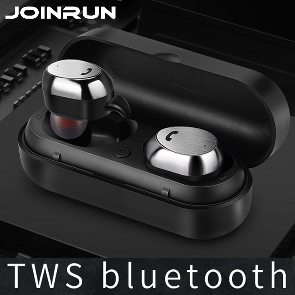 все цены на Joinrun Wireless Bluetooth earphone Headset Earbud Metal Charge Case Mini Stereo Music Bluetooth Earphone with Mic for Phone
