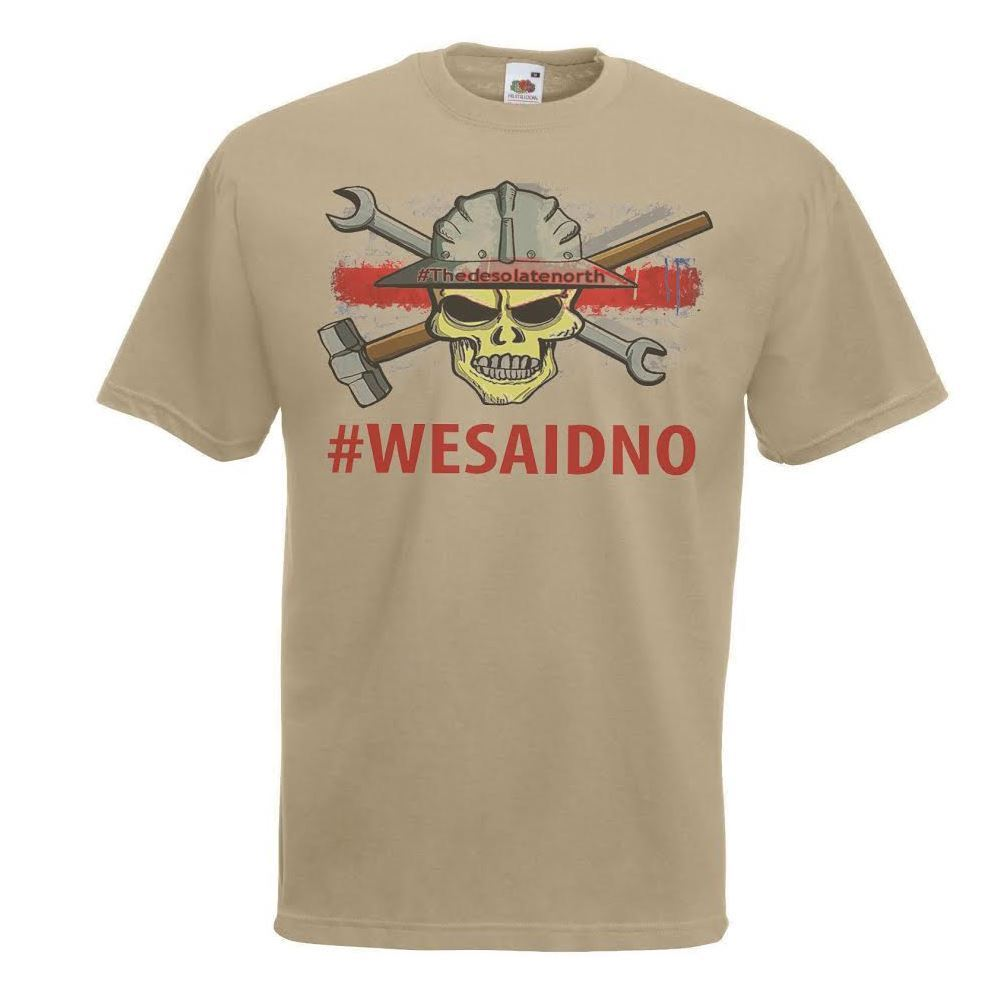"""""""new High Quality 2019 Cotton T Shirt Khaki We Said No! To Fracking T-shirt Anti-fracking Red Line Campaign Funny Cotton Tee"""""""