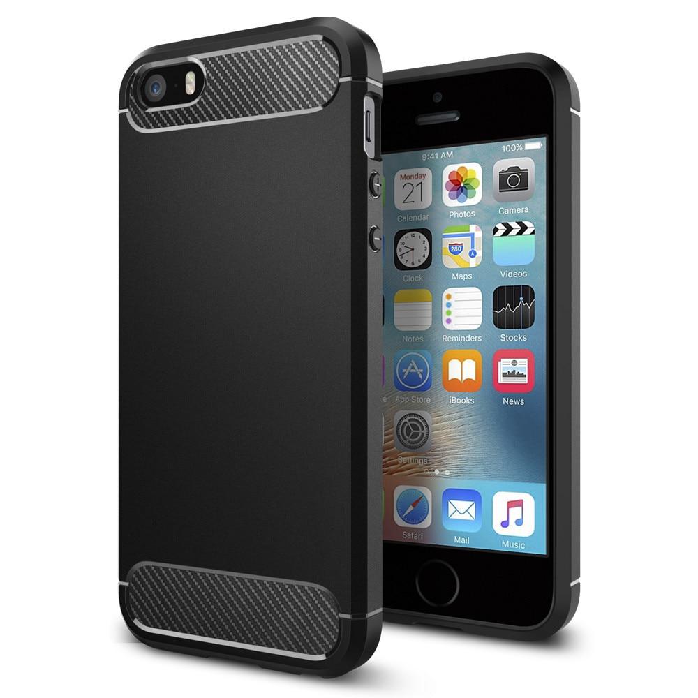 Цена за 100% Оригинал Spigen Rugged Armor Чехол для iPhone SE/iPhone 5S/iPhone 5 Военного Класса Гибкие Защитные Случаях с пакет