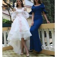 Sexy Moslemischer Langer Weiß Formale Türkisch Arabisch Abendkleider Kleider Für Hochzeiten Robe De Soiree Galajurk