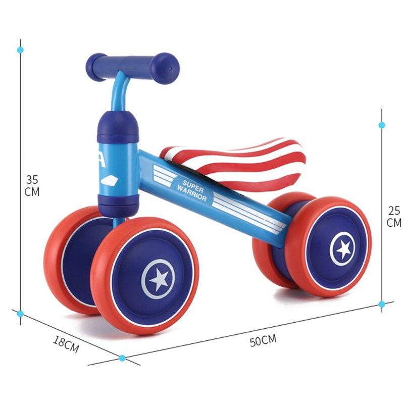 Детский велосипед детский баланс езды на велосипеде игрушки для детей четыре колеса детский велосипед Kick Scooter Bike Extra долл. 2 usd купон - 6