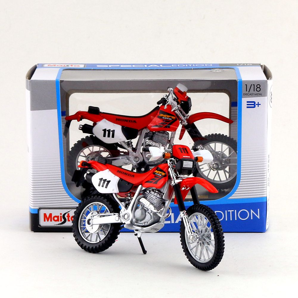 Diecasts & Toy Vehicles Careful Free Shipping/maisto Toy/diecast Metal Motorcycle Model/1:18 Scale/honda Xr400r Supercross/educational Collection/gift For Kid Do You Want To Buy Some Chinese Native Produce?