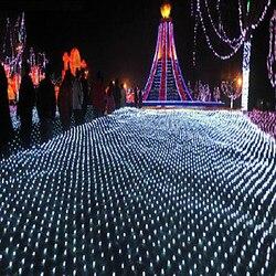 السنة الجديدة أكاليل LED أضواء عيد الميلاد في الهواء الطلق 8x10 متر 220 فولت جارلاند كريستماس أضواء الديكور لوسيس دي نافيداد الفقرة الخارجية