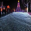 Ano novo Guirlandas LEVARAM Luzes De Natal Ao Ar Livre 8x10 m 220 V Luzes Cristmas Guirlanda Decoração Luces Navidad parágrafo Exterior