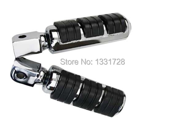 Chrome Wing Foot Pegs Rests For 2002-2006 Honda VTX 1800 R,S & N (rear)