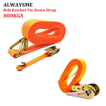 ALWAYSME 5M Length Heavy Duty 800KGS Tension Strength Ratchet Straps Tie Down Strap For Car Motorcycle Cargo Trailer Truck