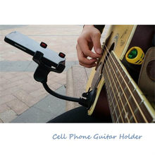 Phone Holder Stand for Guitar Street Singing lyrics Song Car Holder Sucker Suction Cups Musicians Guitar Stand Car Holder Mobile(China)