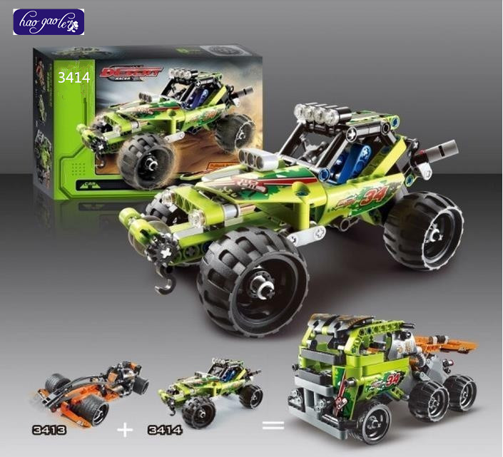 hao gao le 3411-3418 High Technic 2 1 warrior off-roader racer Car Model 3D building set Warrior sports car Compatible toys - DIY Figures Toys Center store