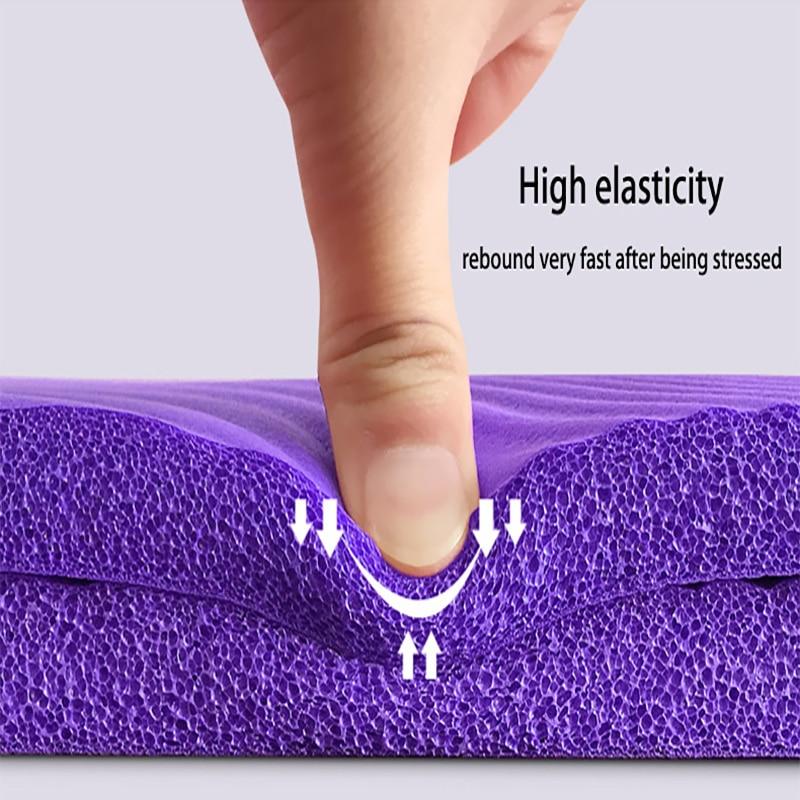 NBR Yoga Mat  15mm Thickness Slim Yoga Mats Non-slip Tasteless Fitness Esterilla Pilates Home Exercises Gym Sport Pad 5