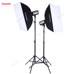 TTF300W two flashlights kit SoftBox lamp holder double Photography Lights pack 2 Flashes set Studio Lighting suit CD50 T10