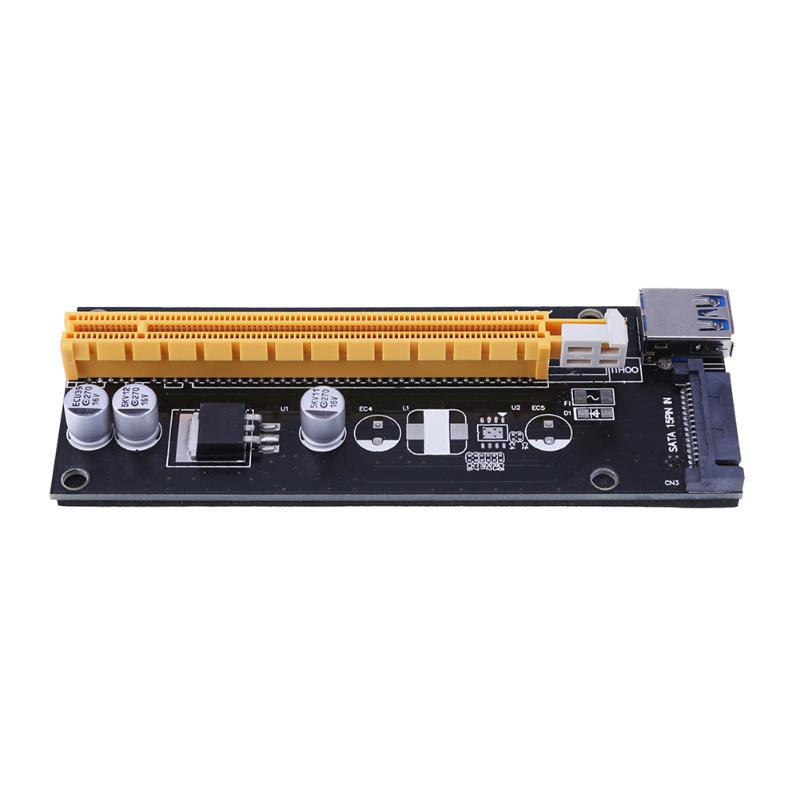 60cm Super stable PCI-E PCI E Express 1x to 16x graphics Card Riser Extender Adapter VER007S For Bitcoin BTC Miner Machine pci e to
