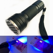 цена 21 LED UV Flashlight Torch Light 395nm Ultra Violet Light Blacklight UV Lamp Torch AAA Battery For Marker Checker Detection онлайн в 2017 году