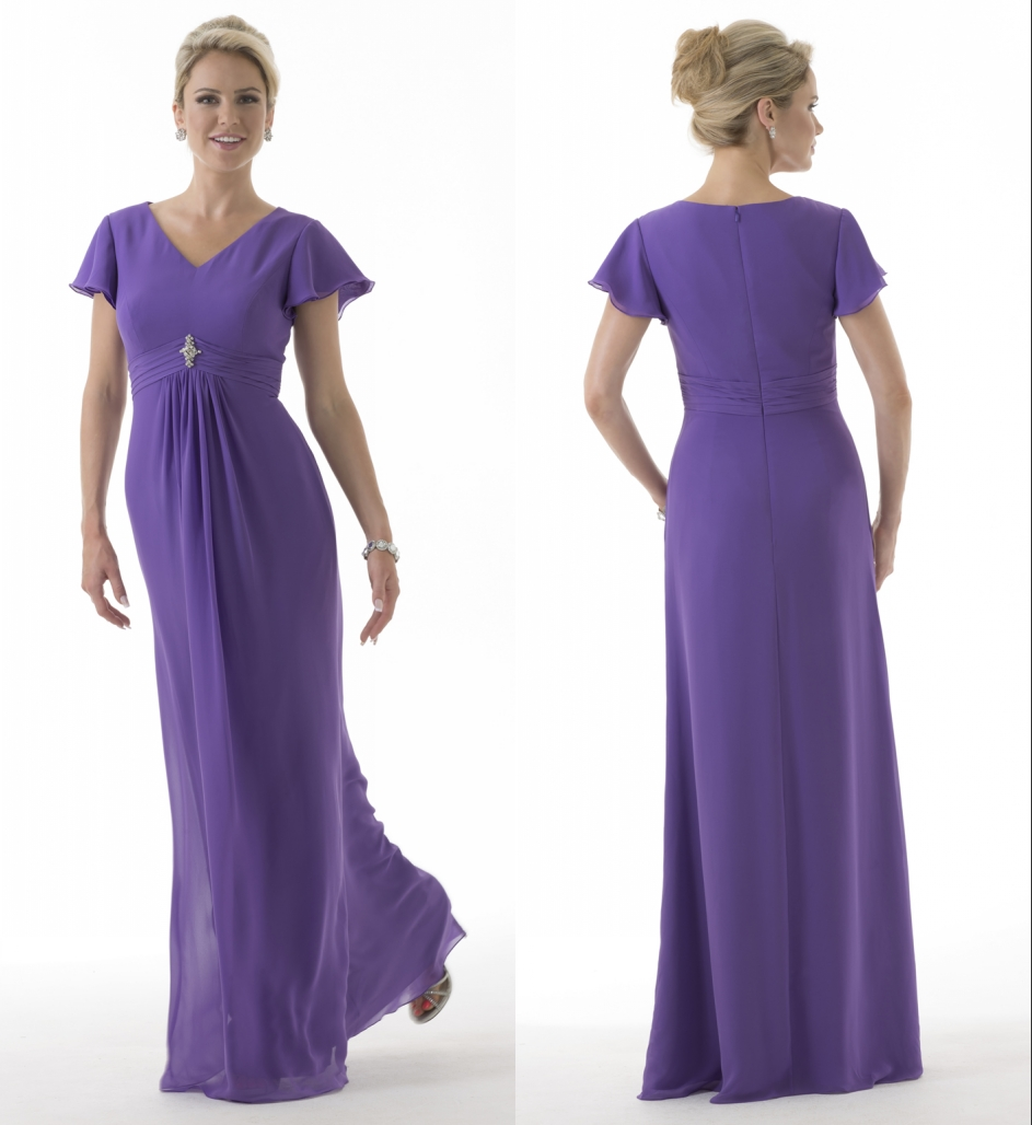 Purple long modest bridesmaid dresses 2017 with cap sleeves purple long modest bridesmaid dresses 2017 with cap sleeves chiffon a line floor length v neck beach wedding guests dresses in bridesmaid dresses from ombrellifo Image collections