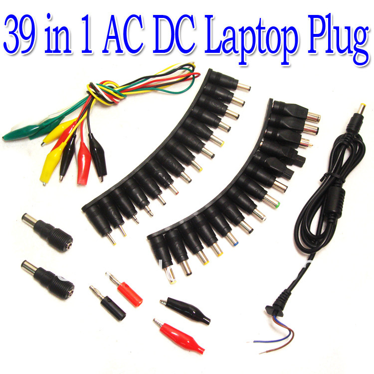 Free shipping  39 in 1 Universal AC DC Jack Power Supply Adapter Connector Plug for HP IBM Dell Apple Notebook Cable free shipping new laptop dc power jack connector cable wire for dell inspiron 15r n5050 n5040 m5040 p n 50 4ip05 101