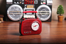 Retro Old Old-fashioned Radio Model Ornaments Creative Coffee Shop Milk Tea Shop Living Room Bookcase Desktop Decorations