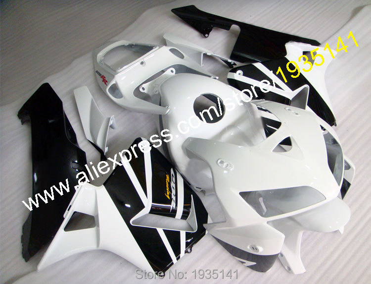 Hot Sales,For Honda CBR600RR F5 2005-2006 ABS Body Work CBR 600RR CBR600 RR White Black Motorcycle Fairing (Injection molding)