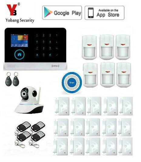 Alarme intelligente de cambrioleur de WIFI de sécurité de Yobang pour le système d'alarme de GSM de sécurité à la maison