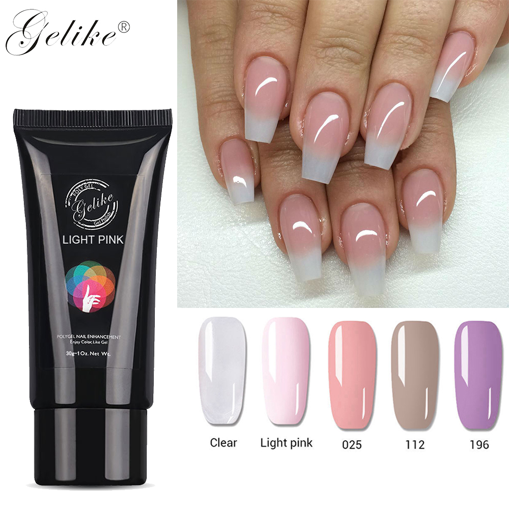 60G Gelike Poly Gel Acrylic UV Nail Art Crystal Extend Extension Builder Lacquer