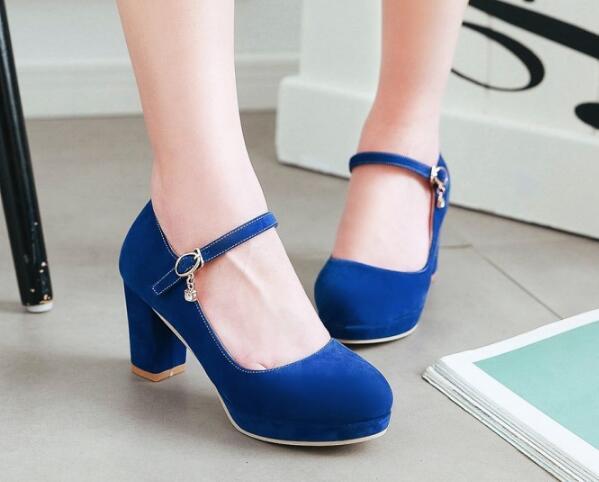 Compre Chaussure Femme Plataforma De La Boda Grueso Tacones Altos ... e687dfa7d5e8