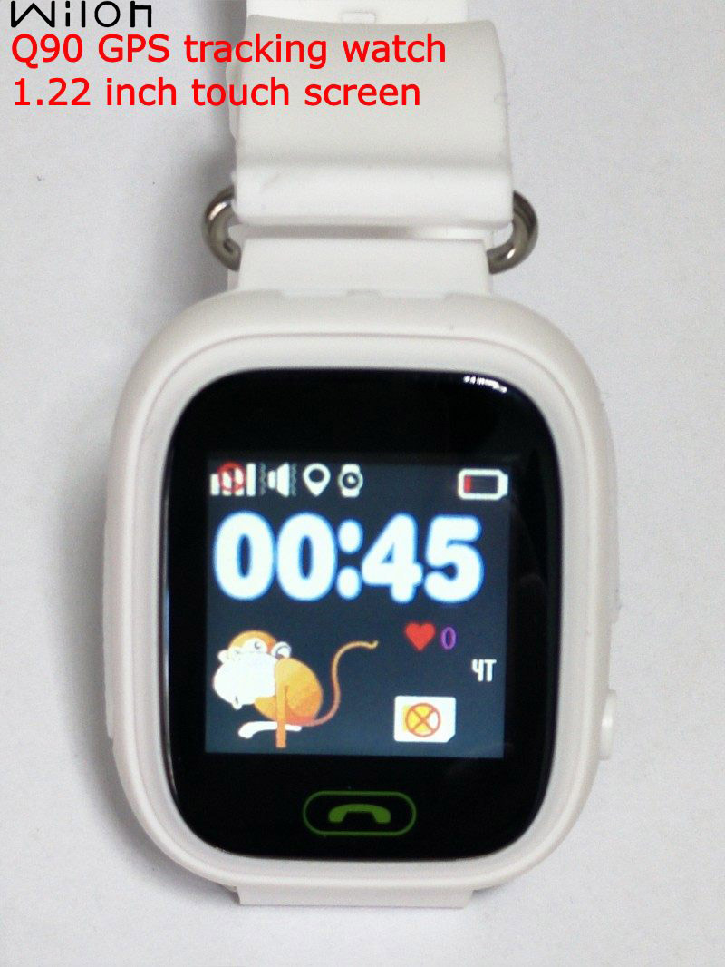 White Q90 GPS Tracking Smart watch Touch Screen LBS WIFI location GPS Watch Children SOS Call Finder Tracker for Kids GPS watch hot q10 gps tracking watch for kids sos emergency 3g wcdma camera gps lbs wifi location smart watch children q730 touch screen