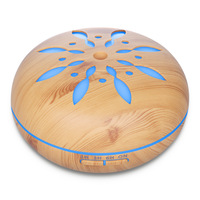 Electric Aroma Diffuser Wood Grain 7 Color Changing LED Light Essential Oil Air Humidifier Ultrasonic Aromatherapy
