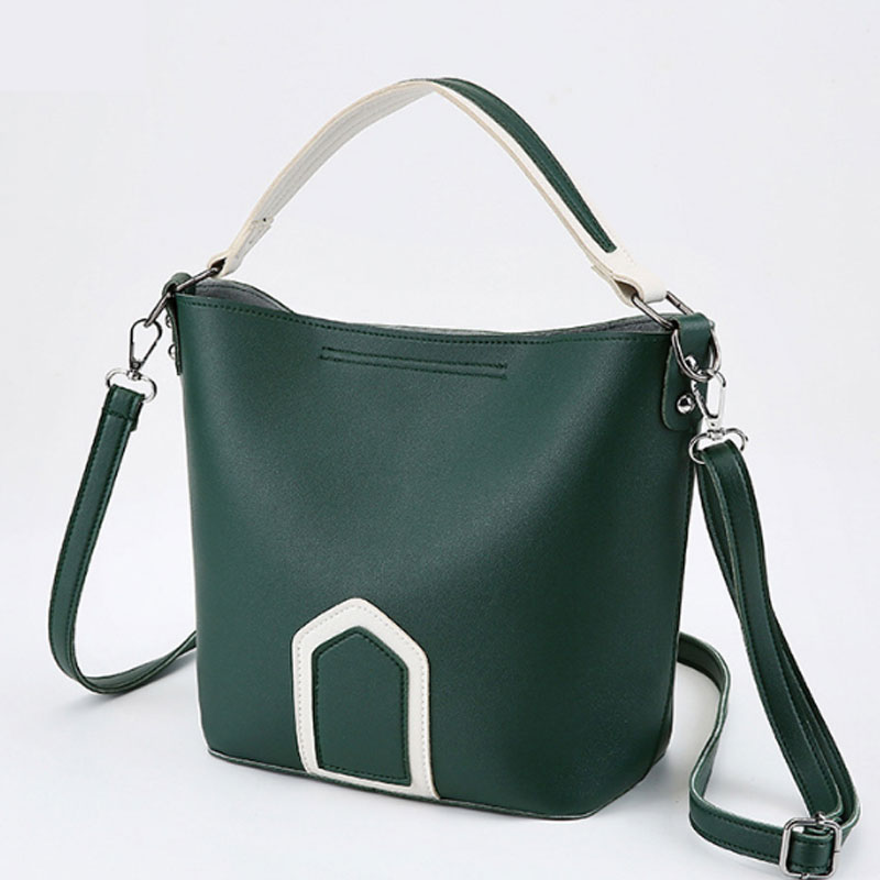 wulekue Women Shoulder Bag Large Capacity Bucket Handbags Quality Casual s Soft Leather Crossbody Bag Shopping Bag Bolsa Feminin