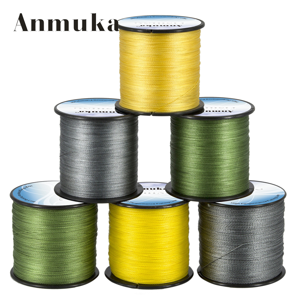 Anmuka pe wire 500m 4 strands braided fishing line for 20 lb braided fishing line