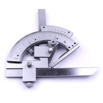 High Quality 0-320 Degree Precision Angle Measuring Finder Scales Universal Bevel Protractor Tool With Case Professional