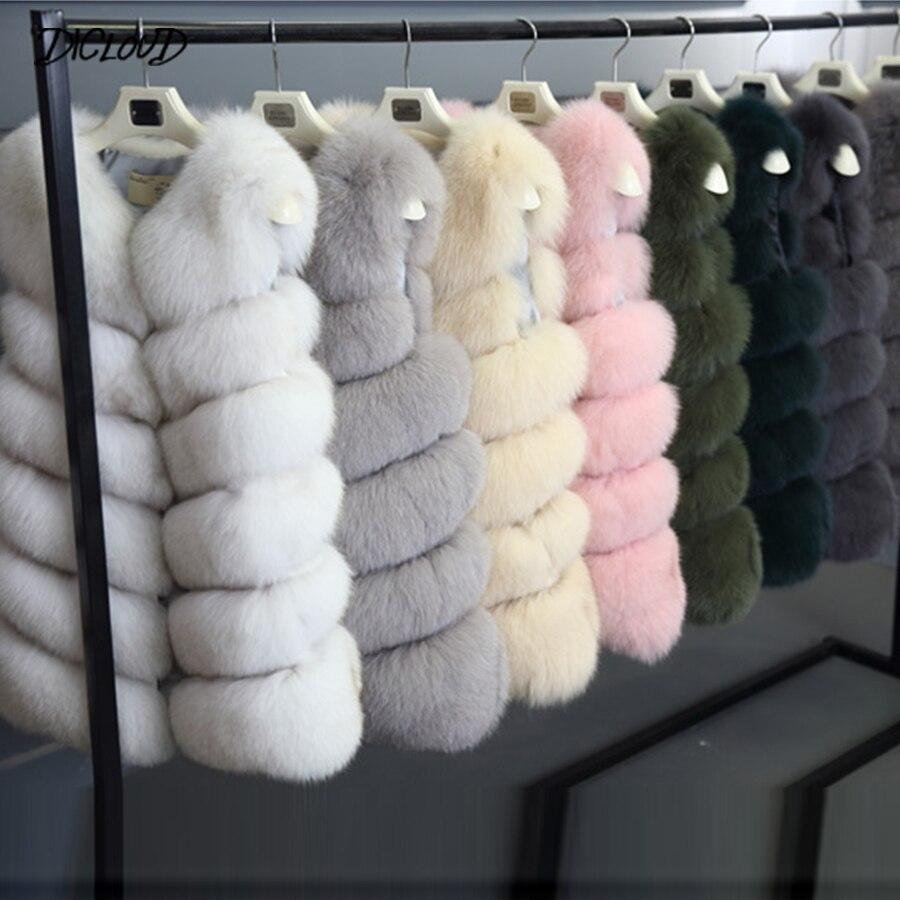 Autumn Winter Faux Fur Coat Women Fashion Korean Elegant Sleeveless Long Vest Woman Casual Slim Luxury Thick Warm Fur Jacket