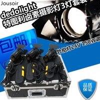 Dedolight ITU Li галогенная лампа 3 свет комплект портативный переносной лампы 24 В 150 Вт диммер CD50