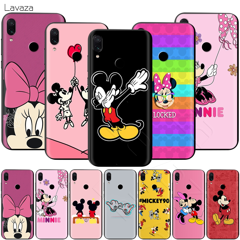 Lavaza Kissing <font><b>Mickey</b></font> Minnie Mouse Case for <font><b>Xiaomi</b></font> Redmi Note 8 Pro <font><b>MI</b></font> MAX 3 6 8 9 SE <font><b>A1</b></font> A2 Lite Plus 8A F1 image