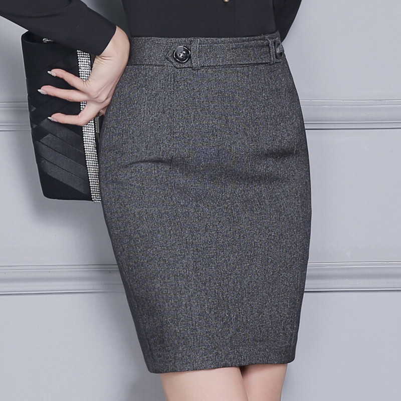 black grey skirt picture - more detailed picture about autumn