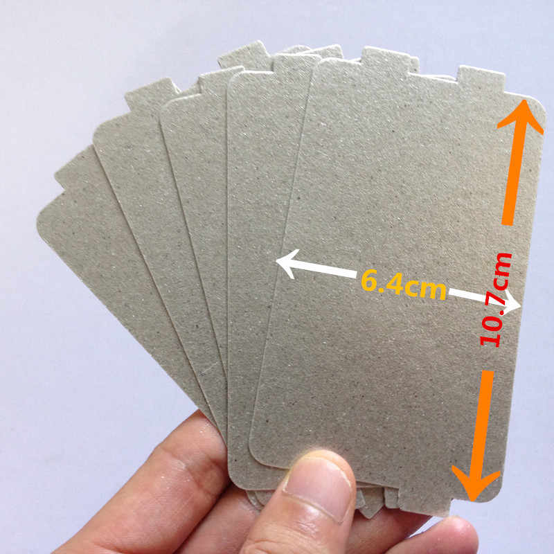 5pcs Thicker Spare parts for microwave ovens mica microwave 10.7*6.4cm mica sheets for Midea magnetron cap microwave oven plates