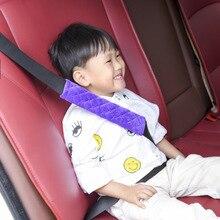 Faixa de segurança infantil para bebês, tecido grosso de pelúcia, cinto de assento de carro, almofada de proteção para ombro macia, 1 peça cinto de cinto