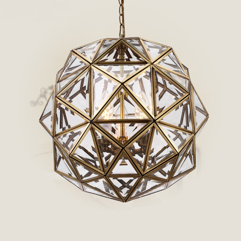 European Bronze Chandelier Corridor Light Bedroom Channel Polygon Spherical Fairway Aisle Study Chandelier LU623 ZL128