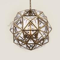 European Bronze Chandelier Corridor Light Bedroom Channel Polygon Spherical Fairway Aisle Study Chandelier LU623 ZL128