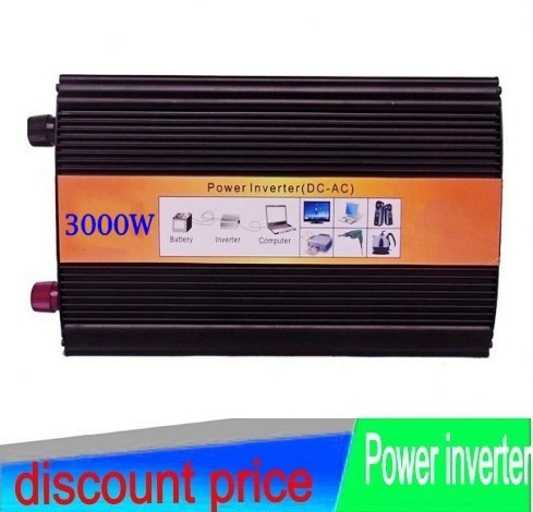 Digital display 3000W peak 6000W pure sine wave inverter factory sell DC12V to AC 240V