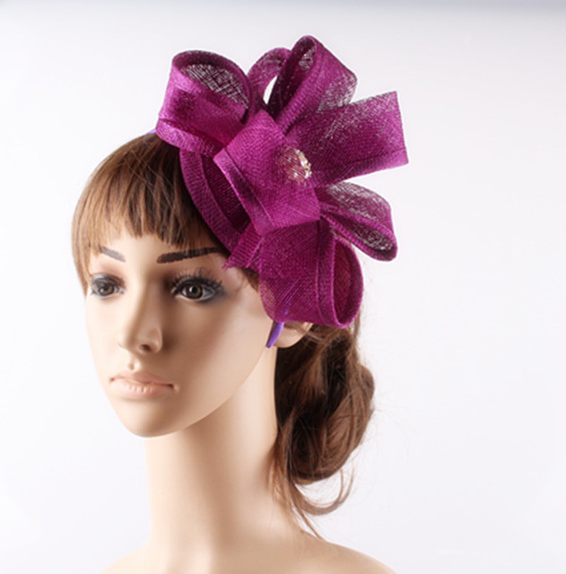 f9c9e9c2f07 18Cm Minillery Sinamay Base Fasinator Loops DIY Women Top Fascinator Hat  Headband Cocktail Headwear Sinamay Hair