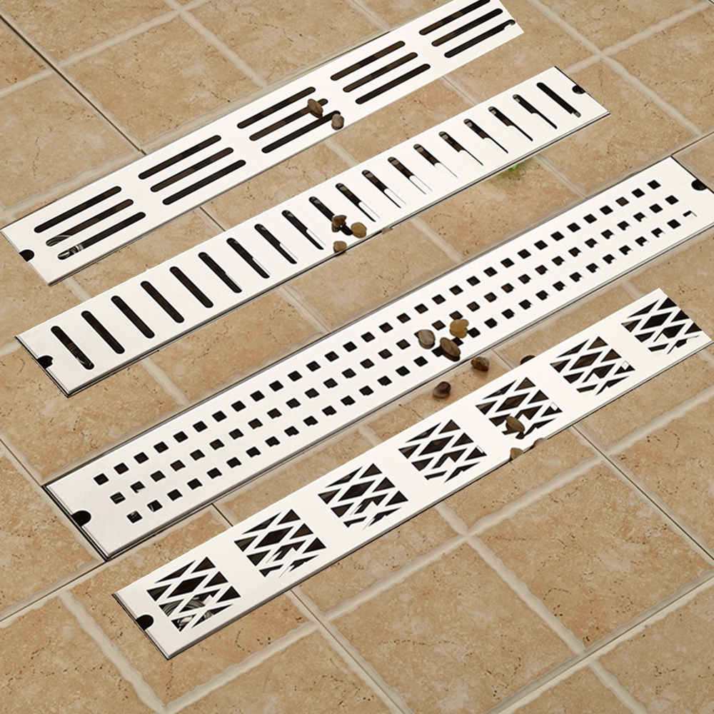 Modern Stainless Steel Chrome Finish Shower Bathroom Floor Drain 90cm Deodorant Type Washer Waste Drain free shipping deodorant floor waste drain oil rubbed bronze 10cmshower floor cover sink grate