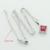 AAA Rojo Hecho en China Blanco Piedras de Colores Sistemas de La Joyería de Plata Para Las Mujeres Pendientes Largos/Colgante/Collar/anillos Caja de Regalo Libre