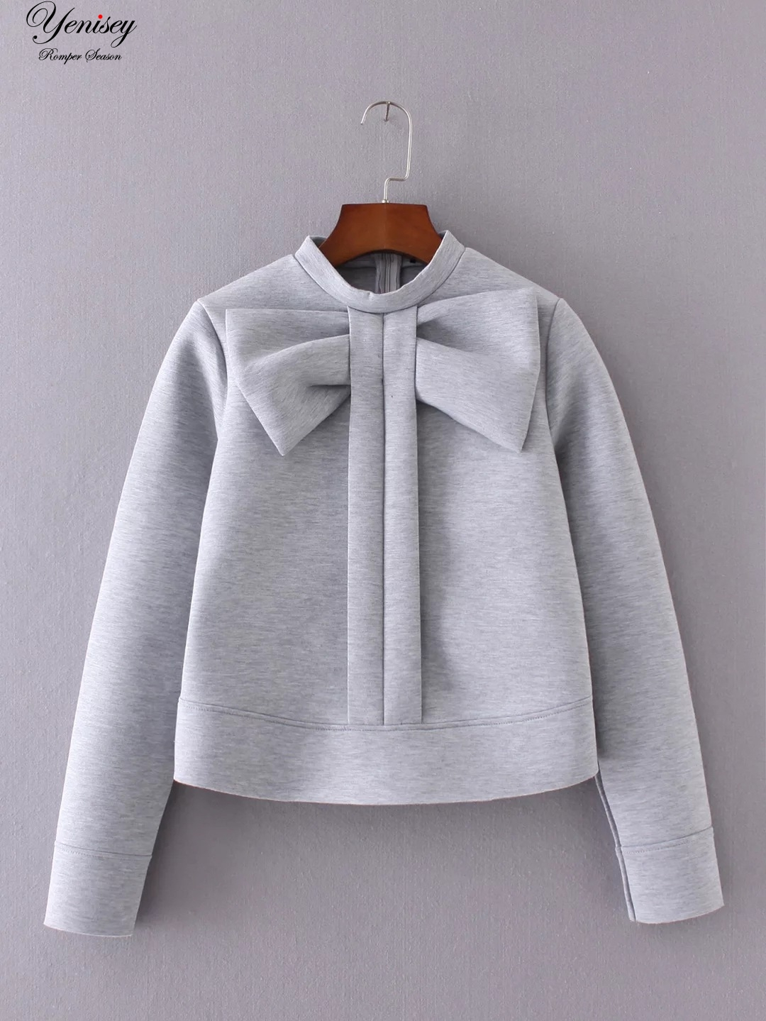 Open-Minded Yd-50-8251 And The Wind Fall Fashion New Bow Collar Sleeve Head Space Cotton Casual Latest Fashion Hoodies & Sweatshirts