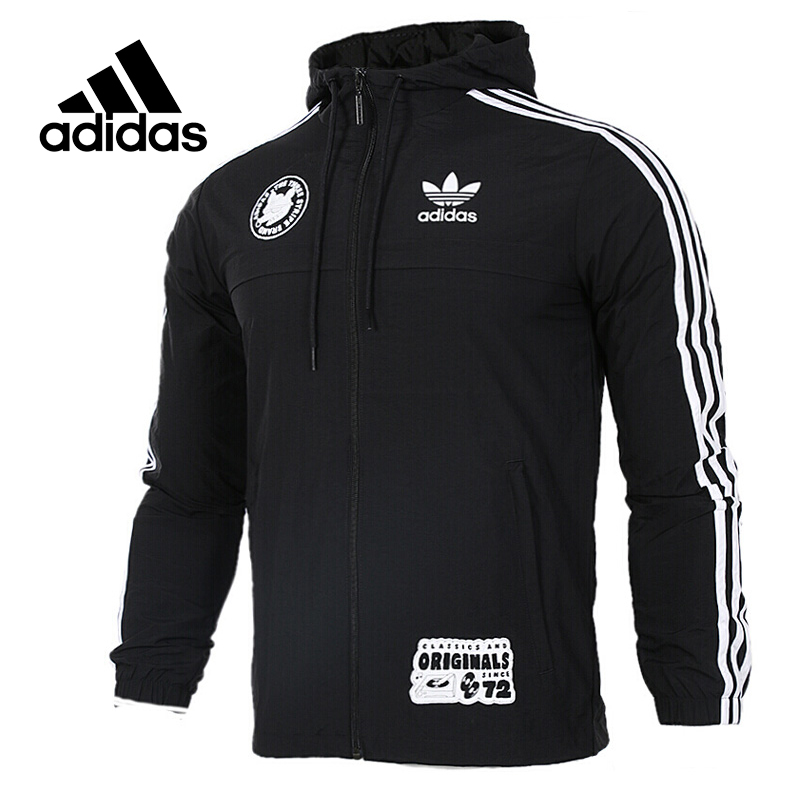 Original New Arrival Official Adidas Originals Badge Windbreak Men's jacket Hooded Sportswear original new arrival official adidas originals trf series aop men s jacket hooded sportswear